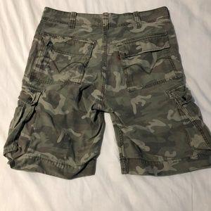 Levi Army Green Camo Cargo Shorts